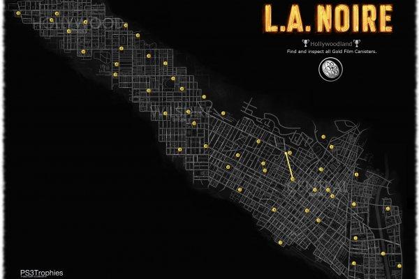 L.A.Noire Карта нахождения киноплёнок