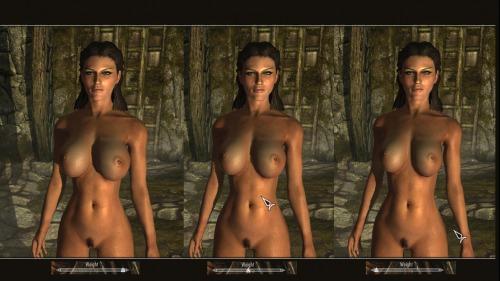 "TES 5: Skyrim ""Calientes Nude мод"""